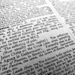 close up of the word passion in the dictionary