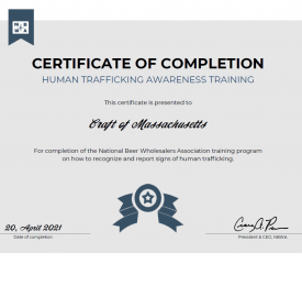 human traffic certificate of completion