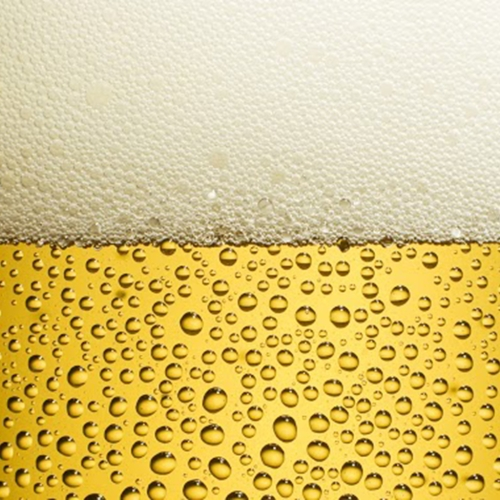 close up of beer in a glass